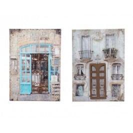 Obraz 3D Home 70x50x30cm Barva: modrá
