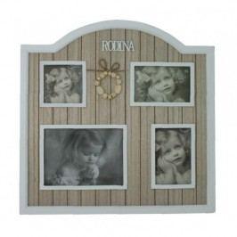 Fotorámeček Rodina dřevěný 48x48cm
