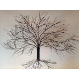Strom na zeď z kovu 83x105cm