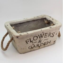 Keramický truhlík Flowers and Garden Velikost: velký
