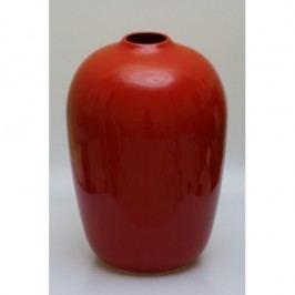 Keramická váza 37x25cm Barva: červená