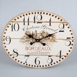 Nástěnné oválné hodiny Bordeaux 39x49x2cm