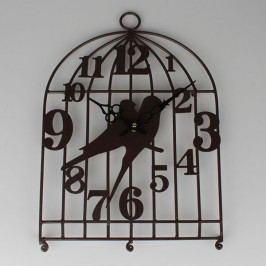 Kovové hodiny ptáčci Barva: černá