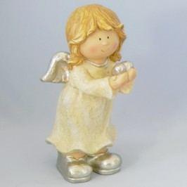 Anděl zlatý keramika 20x22x40cm