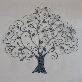 Dekorace na zeď strom s lístky 78x79x2cm