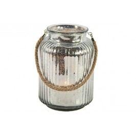 Harasim Svícen skleněný stříbrná lucerna Velikost: velký