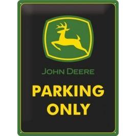 Plechová cedule John Deere parking only 30x40cm Rozměry: 30x40cm