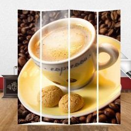 Paravan fotopotisk káva 180x160cm