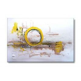 Žlutohnědý ručně malovaný obraz Rozměry: 60x40cm