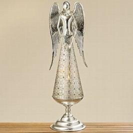 Kovový anděl svícen Velikost: větší