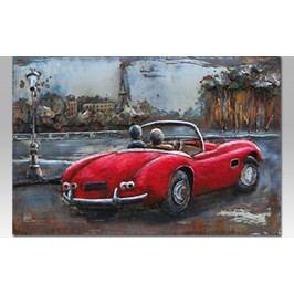 Obraz ručně malovaný | kovový|červené auto