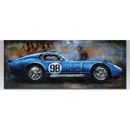 Obraz ručně malovaný | kovový | závodní auto