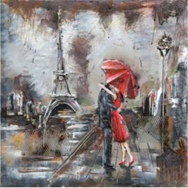 Obraz ručně malovaný | kovový | milenci