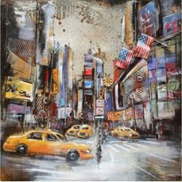 Obraz ručně malovaný | kovový | New York