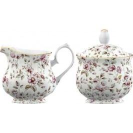 Creative Tops Porcelánová mléčenka a cukřenka White Floral IDSUGCR3744