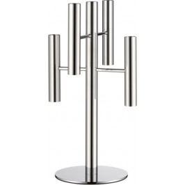Svícen WMF Výška 39,5 cm - pětiramenný nerezový svícen Lounge Living