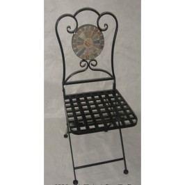 Autronic Židle kovová s mozajkou | 35x35x91cm AUJF2205