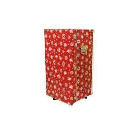 Kazeto Krabicová skříň | vánoční | na kolečkách | 38x35x68cm Barva: červená KZ3309415-0038-0350