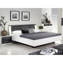 Nienburg 180x200 cm, bílá/tmavá šedá