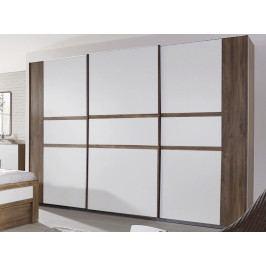 Bernau, 271 cm, dub stirling/bílá, posuvné dveře