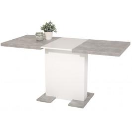 Britt 110x69 cm, šedý beton/bílý
