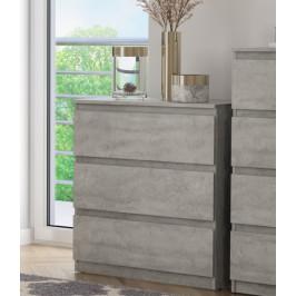 Carlos 753S, šedý beton, výška 80 cm