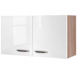 Valero H100, dub sonoma/bílý lesk, šířka 100 cm