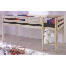 Zvýšená postel pro děti z borovicového dřeva