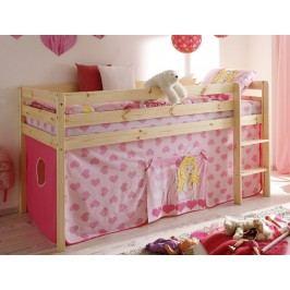 Růžová dětská patrová postel CINDY 60955
