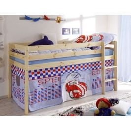 Modrá dětská patrová postel SPEED 60965