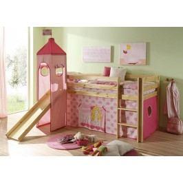 Růžová dětská patrová postel CINDY 65960