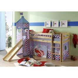 Modrá dětská patrová postel SPEED 65970