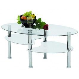 Oválný skleněný konferenční stolek Asko FS4760