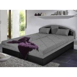 Černá manželská postel AMELIE 180x200 ekokůže