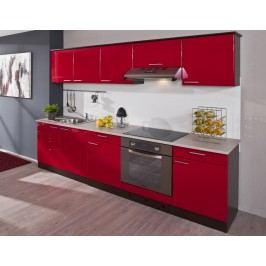 Červená kuchyňská linkaX-LIANA 260D