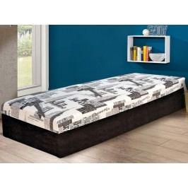 Praktická bílá jednolůžková postel HURIKÁN 80x200 s úložným prostorem