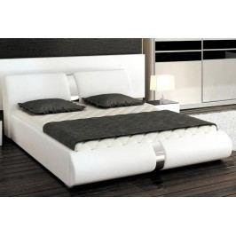 Moderní manželská postel ARTE 160x200 chromová lesk
