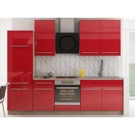Červená kuchyňská linka JULIA