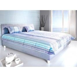 Kvalitní modrá manželská postel BALI 160x200 polohovací