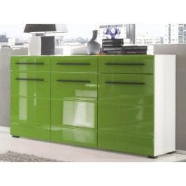 Moderní zelená komoda PUMA 97 lesk