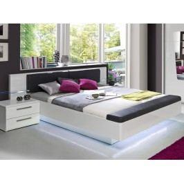 Luxusní manželská postel MADRANO 180x200 lesk