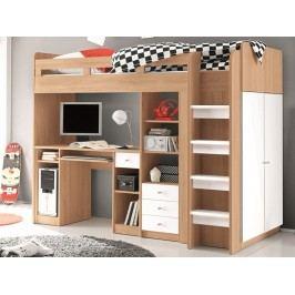 Praktická dětská patrová postel UNIT