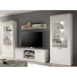 Bílá obývací stěna TORONTO 975