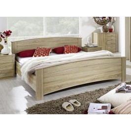 Elegantní manželská postel MOLMO 160x200 dekor dub