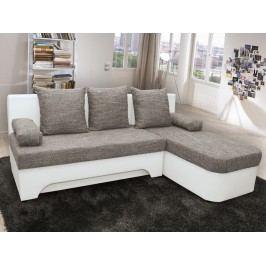 Rohová sedací souprava NICKI - šedo/bílá