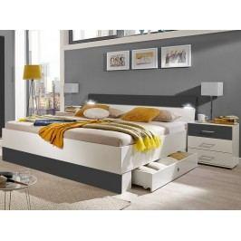 Manželská postel CHEEP 817-188 180x200 úložné zásuvky