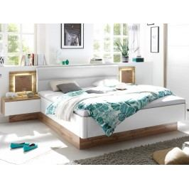 Hnědá manželská postel CAPRI 22-230-H2 180x200 dekor dub