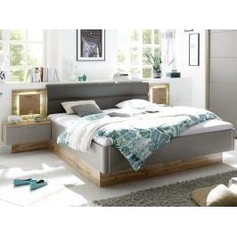 Hnědá manželská postel CAPRI 22-230-K2 180x200 dekor dub