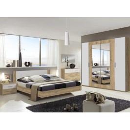 Moderní bílá ložnicová sestava NORA 723-323 dekor dub