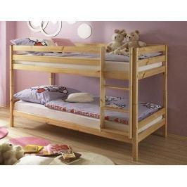Klasická dětská patrová postel MORITZ borovice
